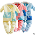 Jiayi infant children newborn infant cotton cardigan sweater bottoming suits bandage monk clothes