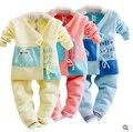 Jiayi infant children newborn infant cotton cardigan sweater bottoming suits bandage monk clothes