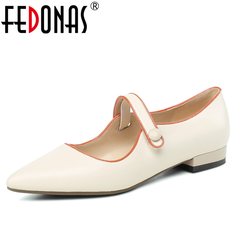 FEDONAS Women Sexy Pointed Toe Genuine Leather Buckles Ribbon Bowknot Wedding Party Shoes Woman High Heeled New Pumps chic bowknot ribbon embellished felt hat for women