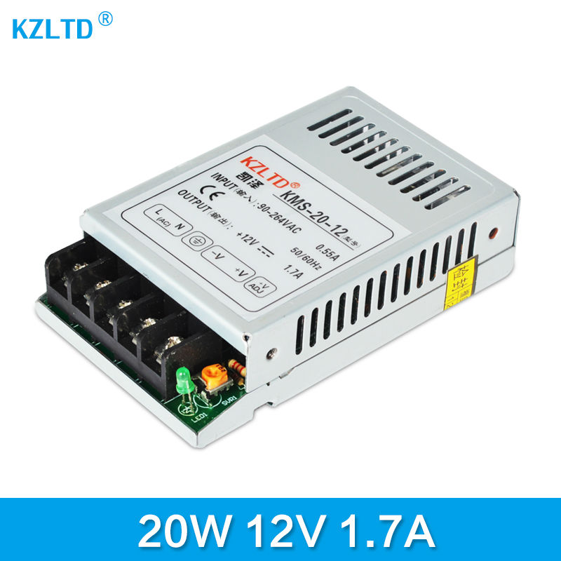 Power Supply DC 12V 20W AC-DC 110V / 220V to 12V Switching Power Supply for LED Strip Light Monitor CCTV CNC 3-Year Warranty
