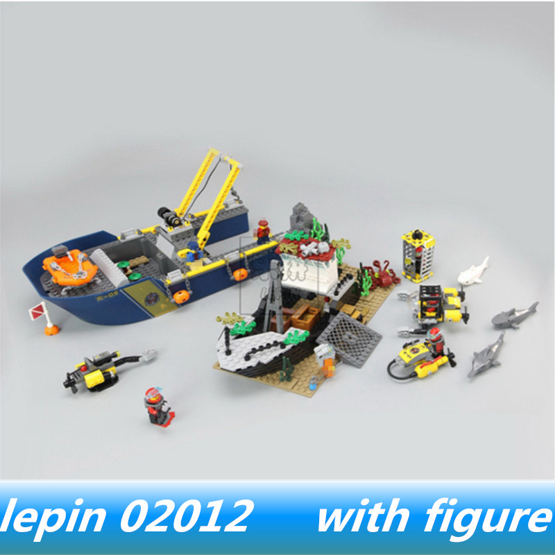 Lepin 02012 lepin City Series Ocean Blocks Brick Deep Sea Exploration Compatible legoing City Series legoing 60095 Building Toys цена