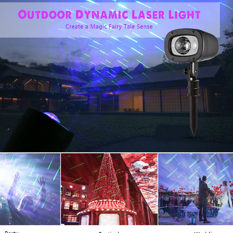 цена на IP65 Magic Stage Lighting Effect Outdoor Shooting Star and Cloud Dynamic Laser Light Projector Remote control DMX Lumiere Laser