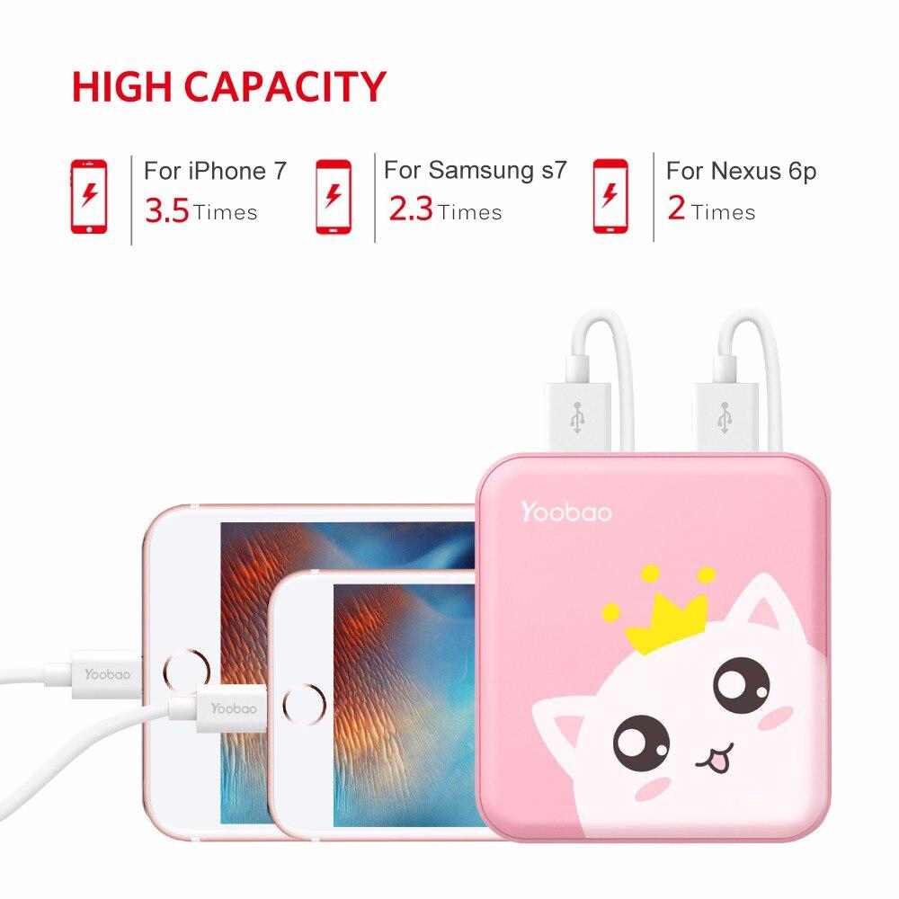 Yoobao Cute Power Bank 10000 mAh For Xiaomi Mi 2 USB Small Pover Bank Mini Portable External Battery PoverBank For Oukitel Phone