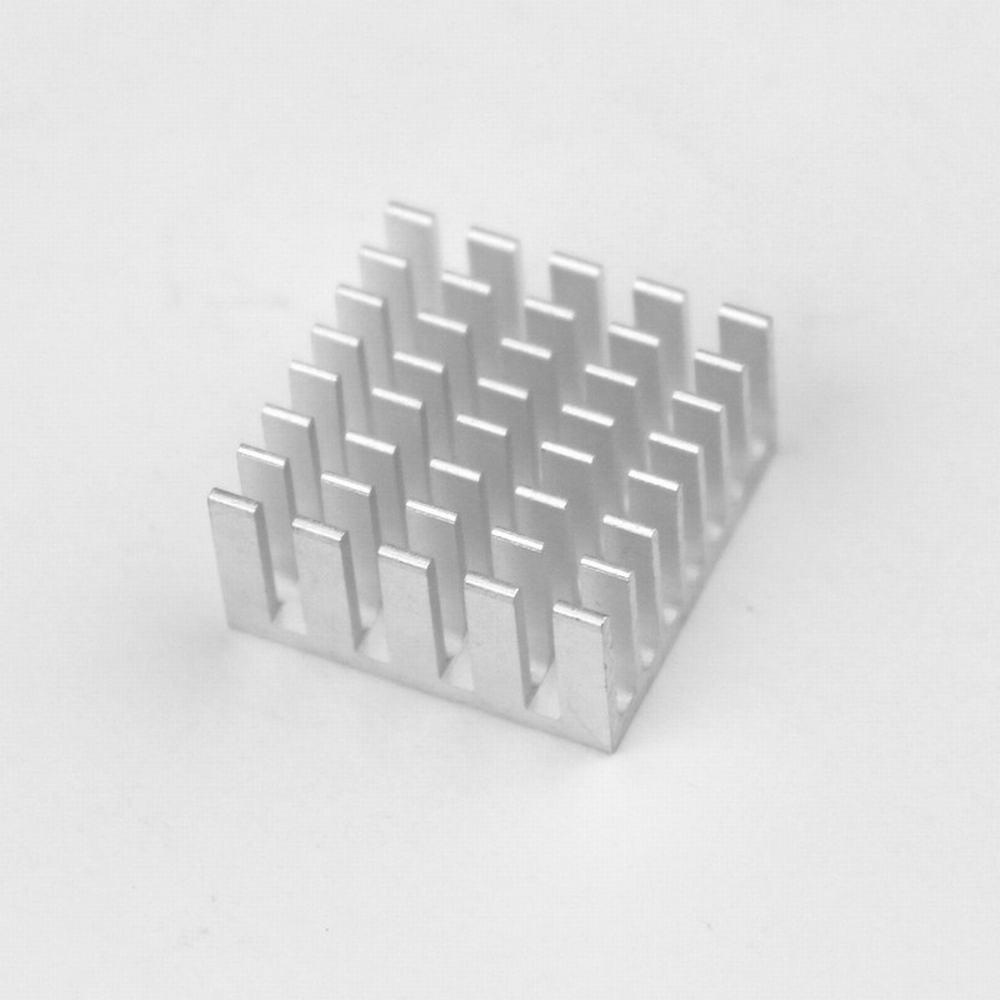 12pcs 20x20x10mm Aluminum Heatsink With 3m Thermally Conductive 10 X 10mm Aluminium Radiator Cooling Pendingin Heat Sink Adhesive Tape Vga Ram Memory Cooler 20mm In Fans From