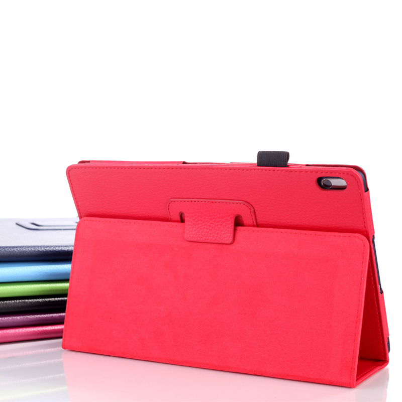 Leather cover case for Lenovo ideaTab a10-70 A7600 protective case for lenovo A7600 A10 10.1 tablet case+screen stylus pen gefu 12485
