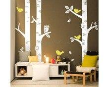 Birch Tree Wall Sticker Birds Owl Tree Wall Decal Kids Room DIY Children Tree Sticker Nursery Decors Hot Sale T34
