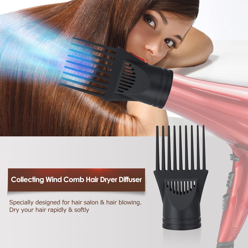 Salon Hair Straight Comb Dryer Nozzle Diffuser Wind Blower Hairdressing Air Drying Narrow Concentrator Barber Styling Tools