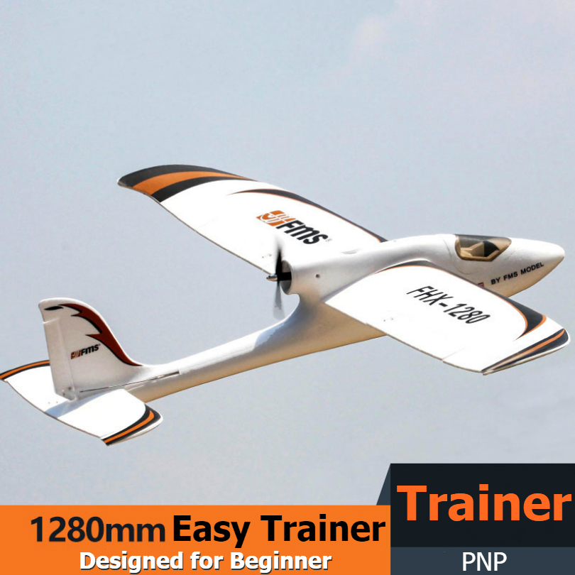 Oyuncaklar ve Hobi Ürünleri'ten RC Uçaklar'de FMS RC uçak 1280MM kolay eğitmen 1280 PNP dayanıklı EPO eğitmen acemi 2S 4CH Model uçak uçak Avion ucuz küçük planör'da  Grup 1
