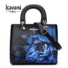 2016 Flap Flower Women Handbags PU Leather Shoulder Bag For Female Designer Printing Ladies Hand bag