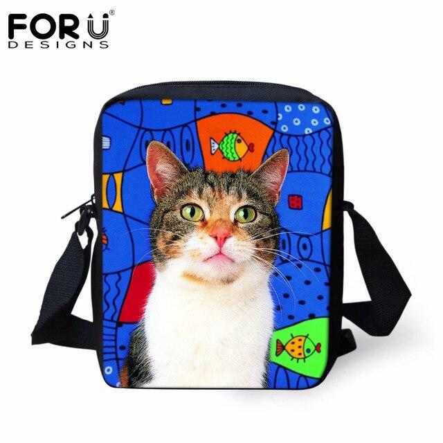3aebc099a8e5 FORUDESIGNS Cute Sea Fish Cat Pattern Messenger Bags for Women Men Casual Mini  Cross Body Bags