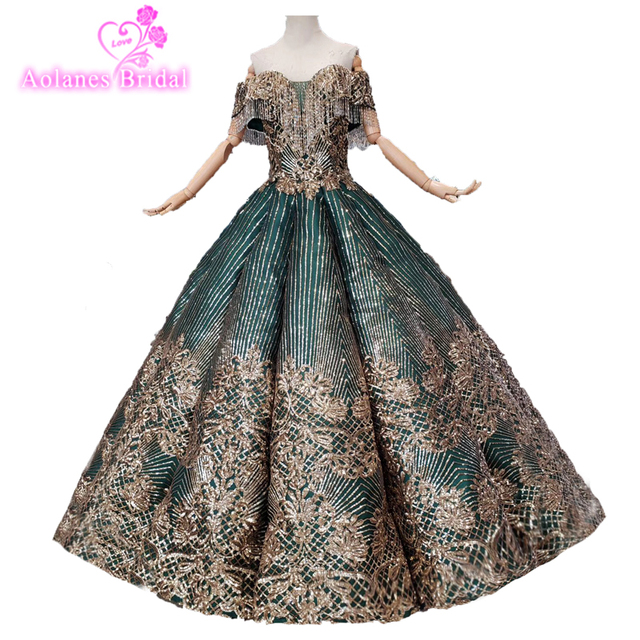 Romantic Ball Gowns Puffy Sweet 16 Dresses Lace Quinceanera Dresses 2019 Crystals Princess Flower Prom Dresses Gown For 15 Anos