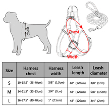 Small Dog Harness and Leash Set Reflective Nylon Adjustable Small Dog Harness Leads Rope Set for Small Medium Dog Red Black Blue