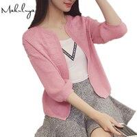 2016 Korean Women Fall Short Coat All Match Loose Sweater Cardigan Sweater Shawl Small Thin Air