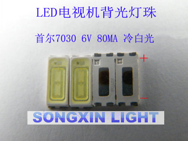 Back To Search Resultselectronic Components & Supplies 1000piece For Repair Sony Toshiba Sharp Led Lcd Tv Backlight Seoul Smd Leds 7030 6v Cold White Light Emitting Diode Stwbx2s0e
