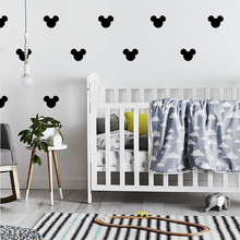 Mickey Mouse Baby Room Home Decor Girl Wall Sticker For Boy Bedroom Vinyl Nursery Kids Stickers LW116