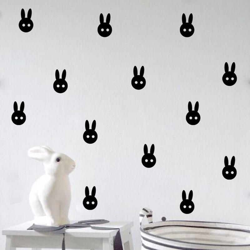 1set Multicolor Removable Home Bedroom Big Rabbit Wall Stickers Art Kids Room Decoration China