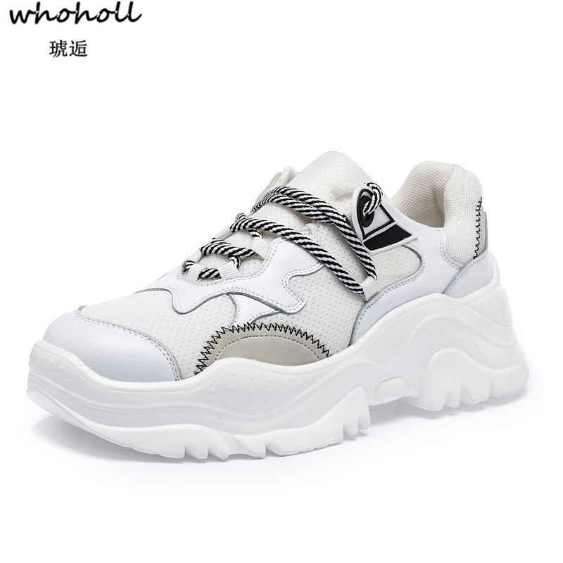 WHOHOLL 2018 NEW Trainers Sneakers Women Casual Shoes Air Mesh Grils Wedges Canvas Shoes ...