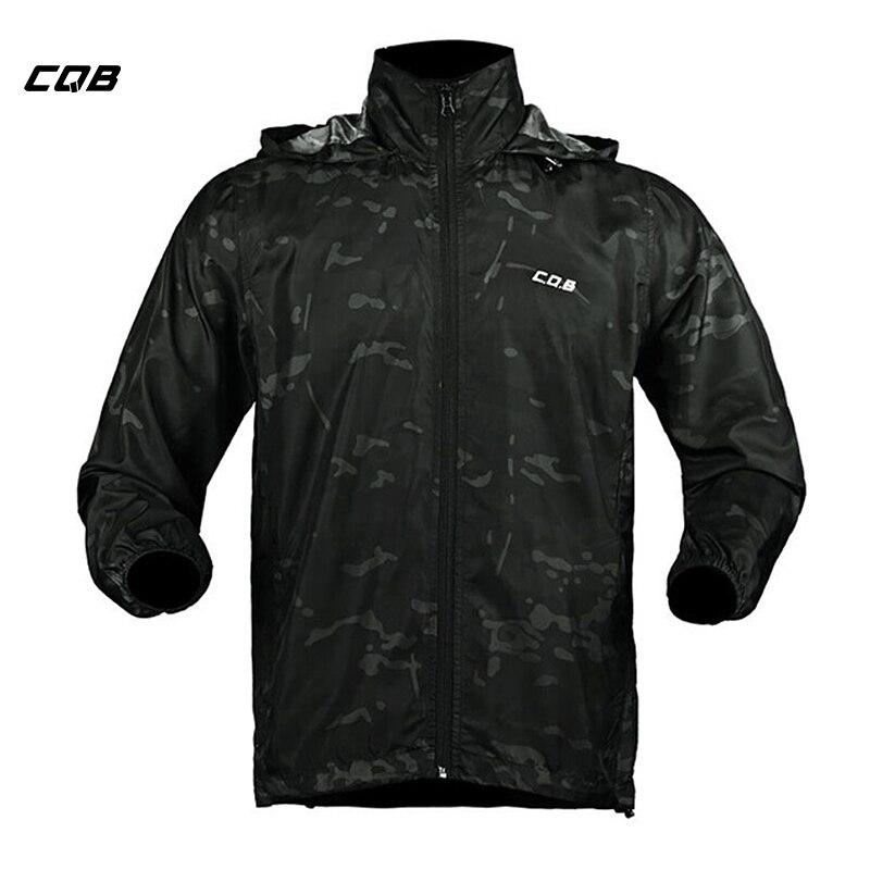 CQB Outdoor Sport Camping Männer der Sonne-schutzhülle Jacke Wasserdicht Winddicht Mantel für Wandern Atmungsaktiv Schnell trocken Kleidung