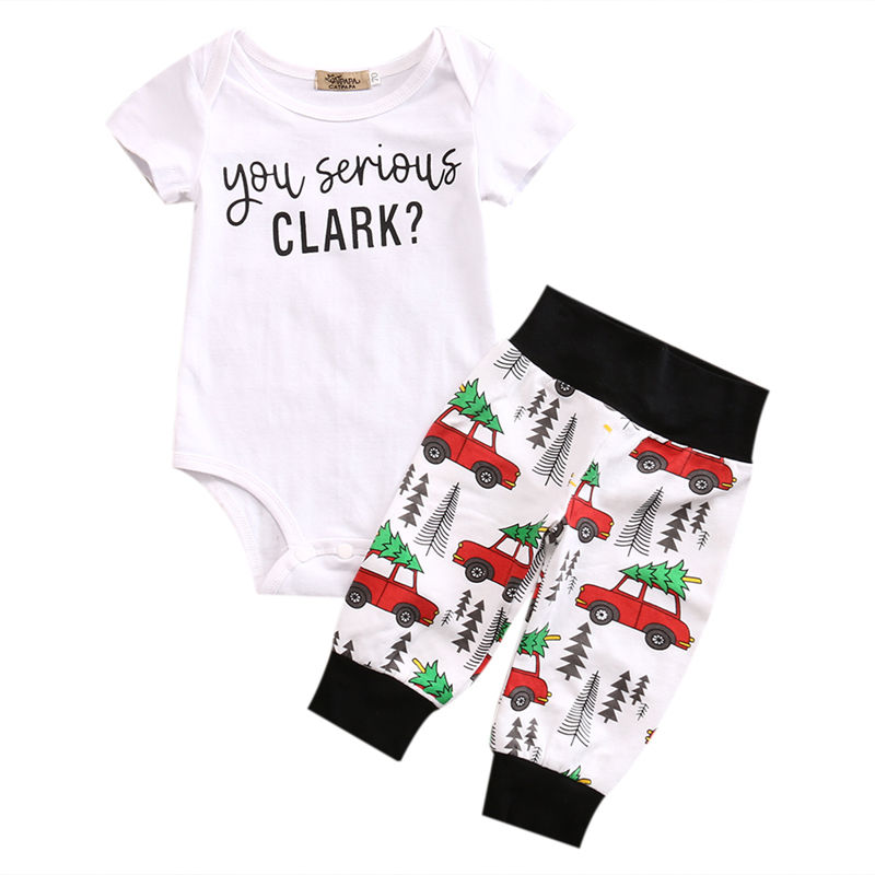 Cotton Newborn Infant Baby Boy Girl Clothes Set Bodysuits Tops Short Sleeve Cotton Pants 2PCS Outfits Baby Boys infant baby boy girl 2pcs clothes set kids short sleeve you serious clark letters romper tops car print pants 2pcs outfit set