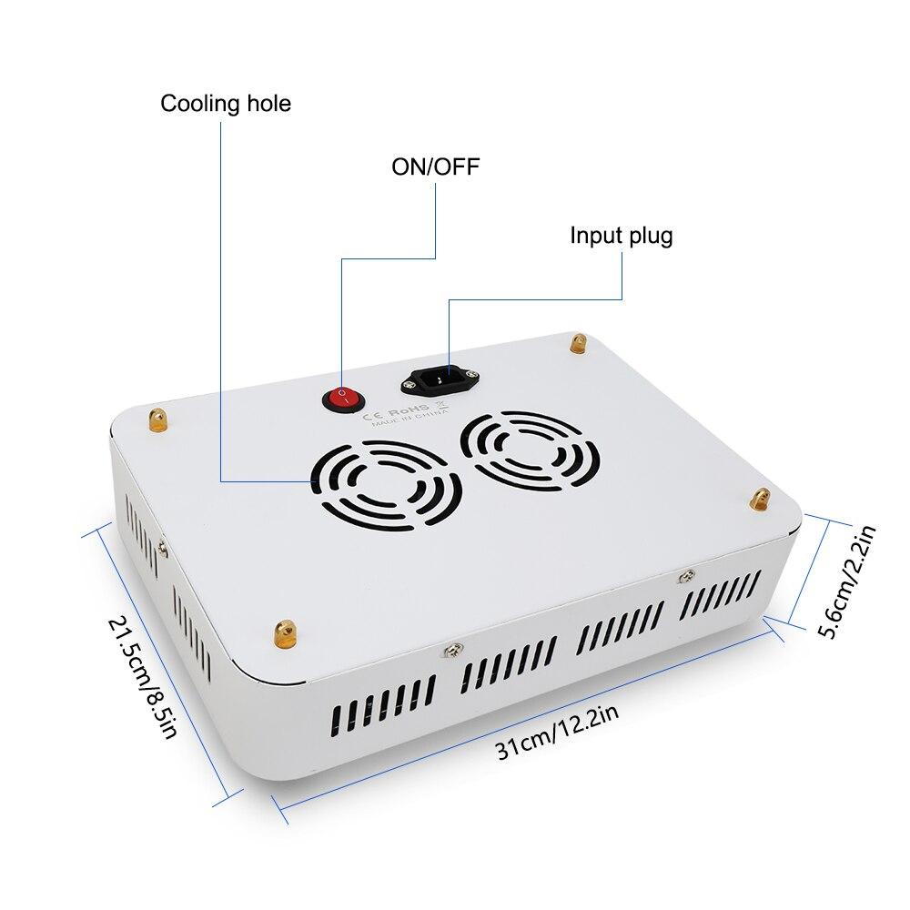 2 teile/los 1000W Doppel Chips LED Wachsen Lampe AC85 265V Gesamte Spektrum Wachsen Licht LED Für Indoor Pflanzen wachstum - 5