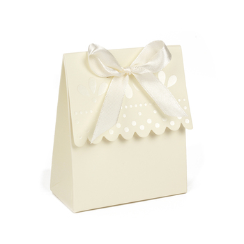 Ivory Color Scalloped-Edge Gift Paper Box Wedding Favor Party Candy Boxes  200pcs\lot Free shipping