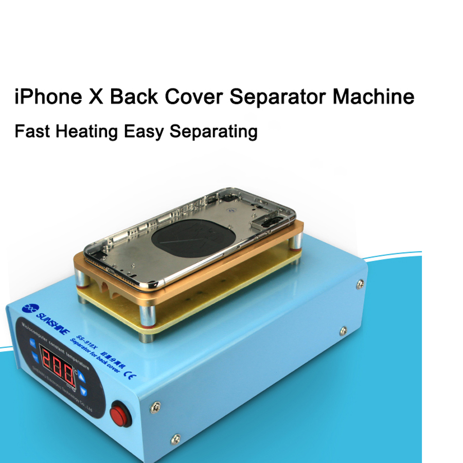 SUNSHINE Back Cover Splitter Separator Machine for iPhone X Crack Cover Remove Repair LCD Screen SplitterSUNSHINE Back Cover Splitter Separator Machine for iPhone X Crack Cover Remove Repair LCD Screen Splitter