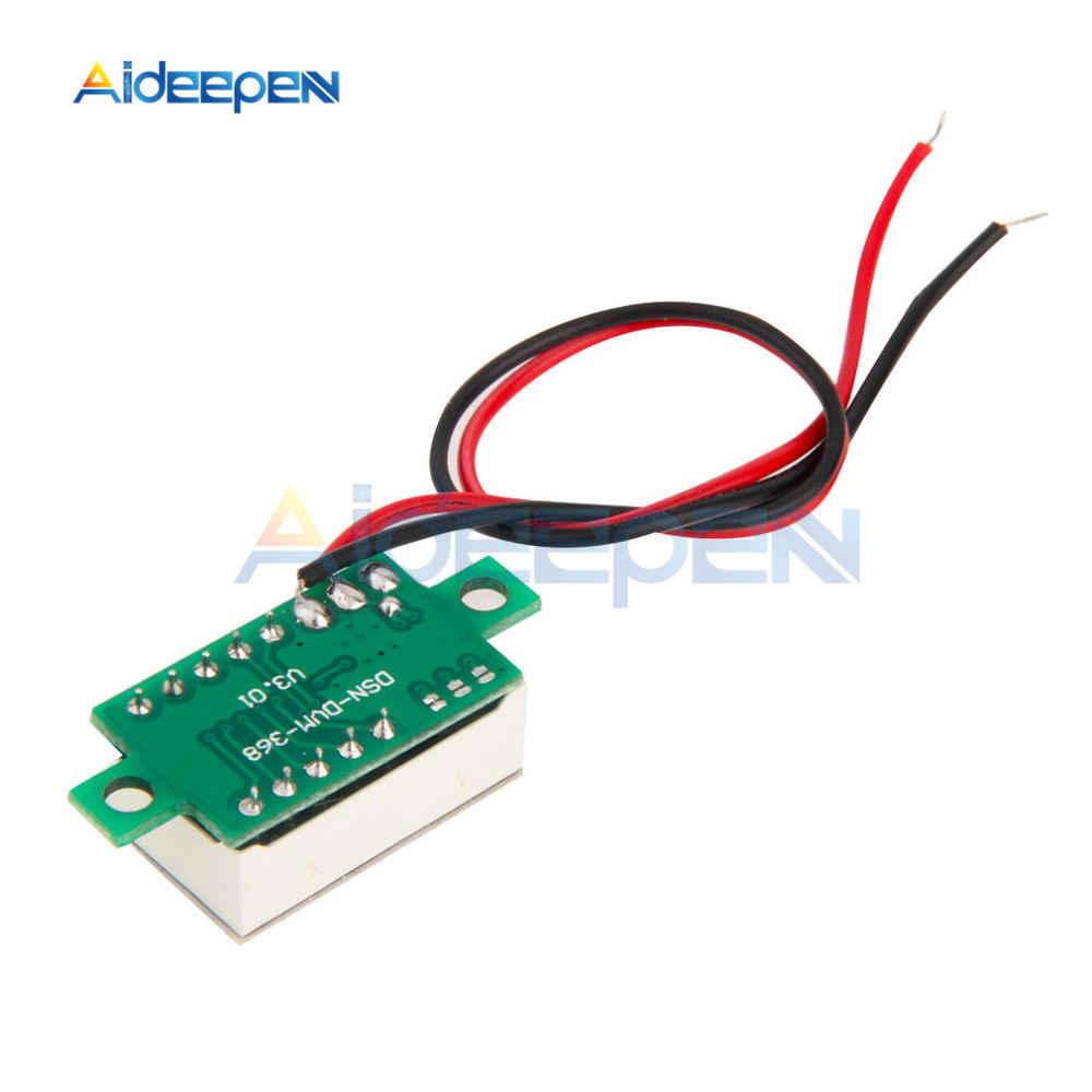 0.36 بوصة البسيطة LED الرقمية الفولتميتر الأحمر لوحة الجهد متر DC 4-30V 3 أرقام عرض تعديل الفولتميتر
