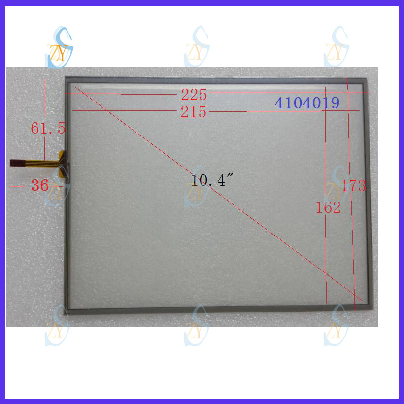 ZhiYuSun  2PCS/Lot 10.4 Inch 225mm*173mm Touch Screen compatible 4104019  for Industrial control display screen 225*173 zhiyusun new266mm 207mm original handwritten12inch touch screen panel n7x0101 4201 ld on digital resistance compatible