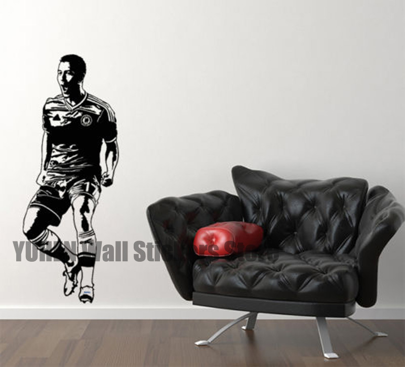 azal wall stickers chelsea soccer players art decals home childrens bedroom study school dormitory wallpapers