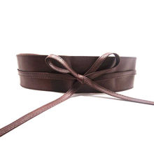 Soft Leather Wide Self Tie Belt