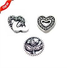Bijoux en argent Sterling 925 Original, Petite breloque familiale pour femmes, bricolage, médaillon flottant, colliers, perles pour la fabrication de bijoux