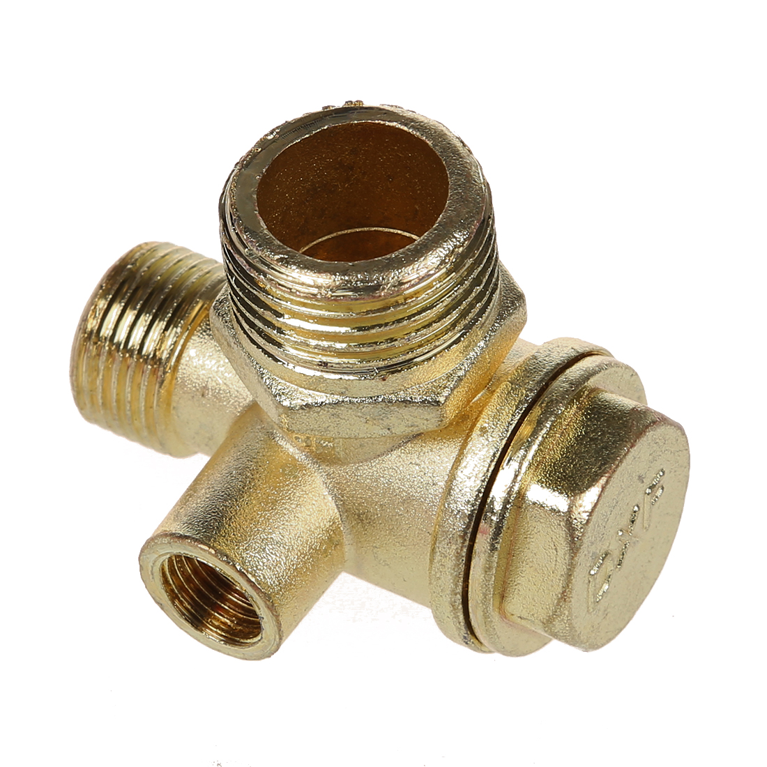 DSHA New Hot New 0.35 Female Thread Tube Connector Brass Check Valve for Air Compressor 3 8 check valve with solder connection for bus air conditioner and refrigeration truck replace sporlan check valve