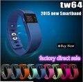 Mais novo TW64 Bluetooth rastreador de Fitness Smartband esporte pulseira banda inteligente pulseira pedômetro para o iPhone IOS Android PK Fitbit
