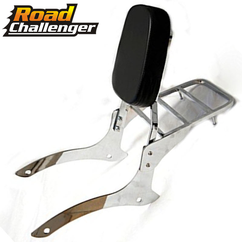 Backrest Sissy Bar Luggage Rack Support Saddlebag Box Holder W/ Detachable Backrest For Yamaha 1100 Vstar XVS 1100