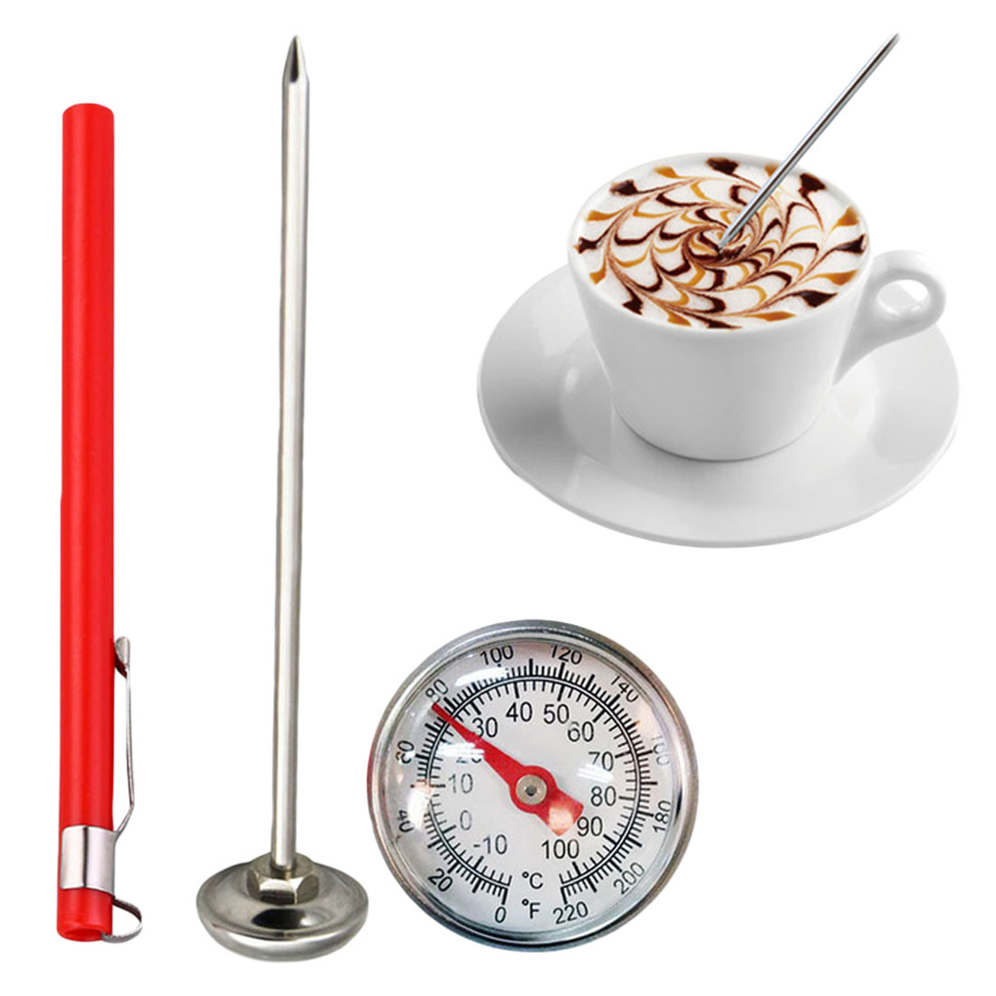 -10C To 100C Meat Thermometer Kitchen Stainless Steel Oven Cooking BBQ Probe Thermometer Food Meat Gauge Cooking Tools