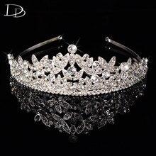 De lujo de cristal Austriaco joyería para las mujeres diadema nupcial tiara corona de la princesa pelo de la boda accesorios tocados novias párr HF031
