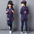 Children clothes 2017 spring girls clothing set teenage girls sport suit star girls clothes school kids tracksuit 4~12 years