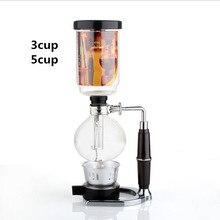 Freies Verschiffen Hohe qualität glas Siphon kaffeemaschine/Siphon topf Vakuum kaffeemaschine Siphon Filter kaffeemaschine 3 tassen 5 tassen