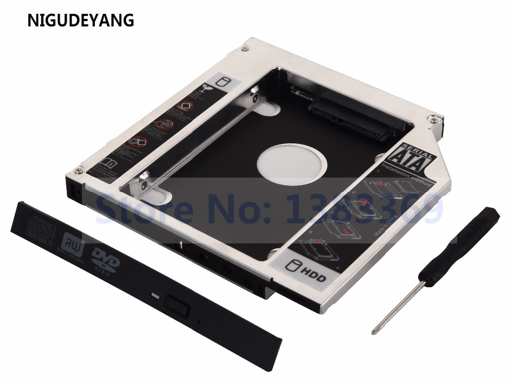 US $7 19 40% OFF|NIGUDEYANG NEW SATA 12 7mm 2nd Hard Drive HDD HD SSD Caddy  Adapter for HP Elitebook 8460p 8470p 8560p 8570p 8760p-in HDD Enclosure