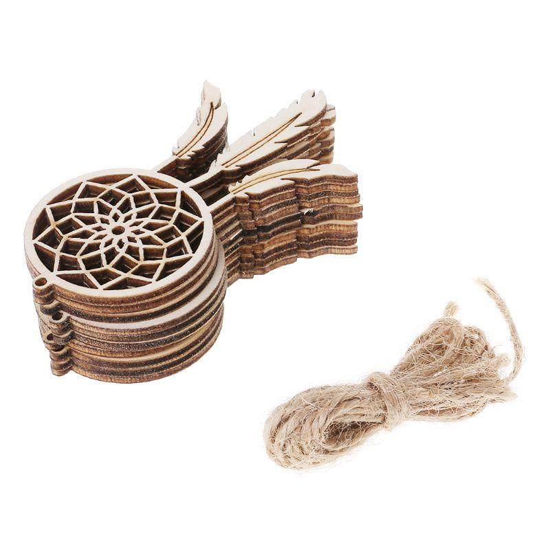 Home & Garden 10pcs Laser Cut Wood Star Embellishment Wooden Shape Craft Wedding Decor Home Decor