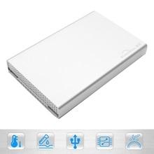 Алюминий корпус 2.5 дюймов USB 3.1 Тип c жесткий диск случае Серебряный Новый Корпуса для жёстких дисков случае USB 3.0 на SATA для Mac/Windows