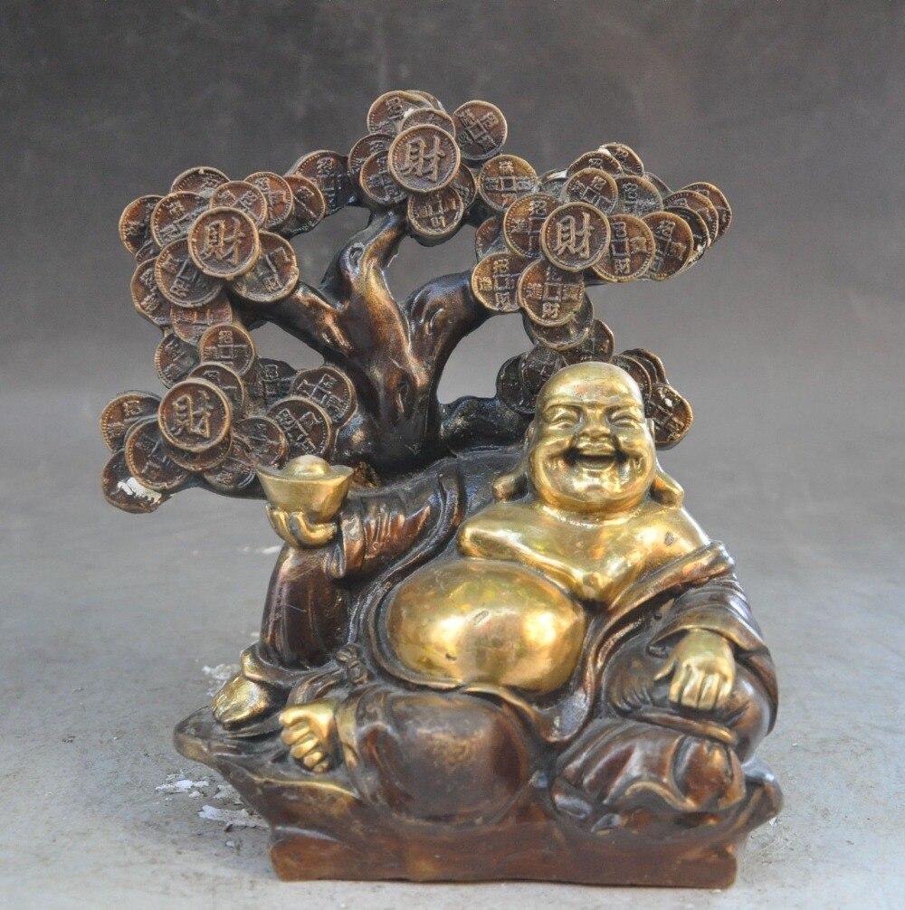 christmas china buddhism bronze gilt wealth money coin tree yuanbao Maitreya buddha statue halloweenchristmas china buddhism bronze gilt wealth money coin tree yuanbao Maitreya buddha statue halloween
