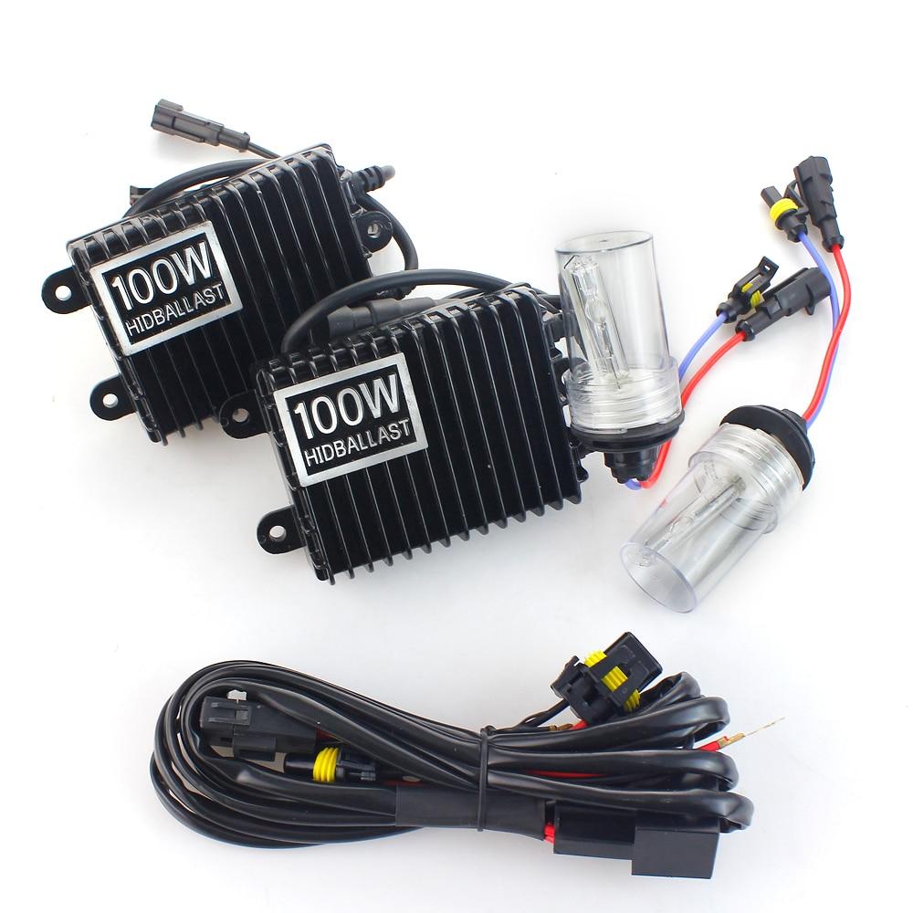 все цены на Xenon H7 75W AC 100W Slim Ballast kit HID Xenon Headlight bulb H1 H3 H11 h7 xenon hid kit 4300k 6000k Replace Halogen Lamp онлайн