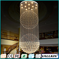 Crystal Lamp Chandelier Penthouse Villa Living Room Fixtures Duplex Rotation Ceiling Lamps AC110 to 240V CE FC VALLKIN LIGHTING