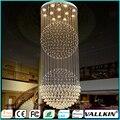 Lámpara de Araña de cristal Ático Villa Sala de estar Accesorios Duplex Rotación Lámparas de Techo ILUMINACIÓN AC110 240 V CE FC VALLKIN