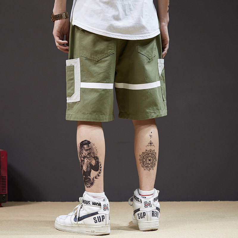 Casual Shorts Hip-Hop Japanese Men's Summer Brand Trend Overalls Chao National Loose