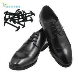 Gootrades 12 teile/satz 3 Größen Männer Frauen Leder Schuhe Faul Keine Krawatte Schnürsenkel Elastische Silikon Schnürsenkel Geeignet Kostenloser Versand