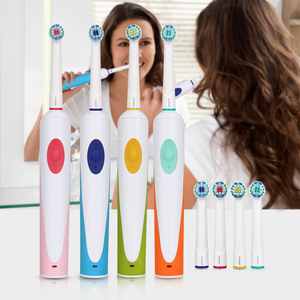 Image 2 - AZDENT brosse à dents électrique rotative, 4 têtes rotatives, pour nettoyage en profondeur, soins buccaux, nouvelle collection, Rechargeable
