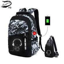 FengDong, школьные сумки для мальчиков, водонепроницаемый большой рюкзак для подростков, школьный рюкзак для мальчиков, Студенческая нагрудная сумка, набор