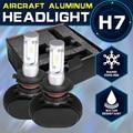 Oslamp CREE Chips 6500K H7 Headlight Kits for Car Automobile H7 Led Headlight 50W/Pair Fog Lamps Fan-less Single Beam Car Bulbs